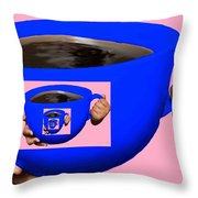 Good Morning Coffee Throw Pillow