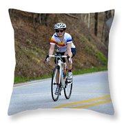 Gran Fondo Throw Pillow by Susan Leggett