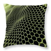 Graphene Structure Throw Pillow