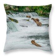5 Grizzlies Throw Pillow