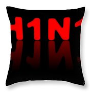 H1n1 Sign Throw Pillow