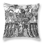 Henry V (1387-1422) Throw Pillow