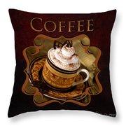 Cappuchino Coffee Gallery Throw Pillow