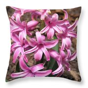 Hyacinth Named Pink Pearl Throw Pillow