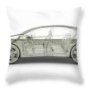 Hybrid Car Throw Pillow