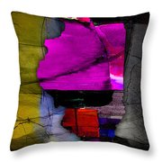Illinois Map Watercolor Throw Pillow