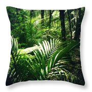 Jungle Leaves Throw Pillow