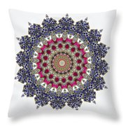 Kaleidoscope Colorful Jeweled Rhinestones Throw Pillow