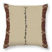 Kenny Written In Ogham Throw Pillow