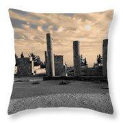 Kourion-temple Of Apollo Throw Pillow