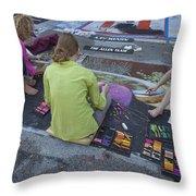 Lake Worth Street Painting Festival Throw Pillow