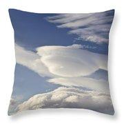 Lenticular Clouds Throw Pillow