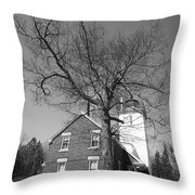 Lighthouse - 40 Mile Point Michigan Throw Pillow