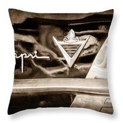 Lincoln Capri Emblem Throw Pillow