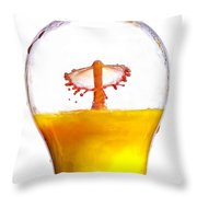 Liquid Coronet  Throw Pillow