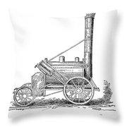 Locomotive Rocket, 1829 Throw Pillow