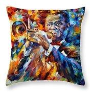 Louis Armstrong Throw Pillow