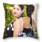 Lovely Lady Throw Pillow