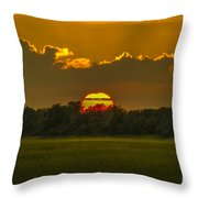 Lowcountry Sunset Over The Marsh Throw Pillow