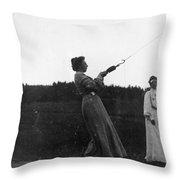 Mabel Hubbard Bell (1857-1923) Throw Pillow
