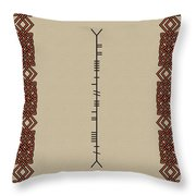 Macdowell Written In Ogham Throw Pillow