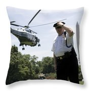 Marine One Throw Pillow
