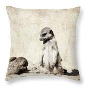 Meerkatz Throw Pillow