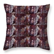 Micro  Photgraphy Crystals Precious Stones Rare Earth Materials Background Designs  And Color Tones  Throw Pillow