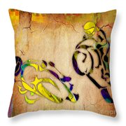 Motorcycle Racing Throw Pillow