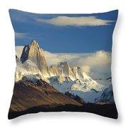 Mount Fitzroy, Argentina Throw Pillow