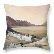 Mount Sinai Monastery Throw Pillow