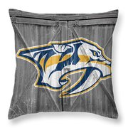 Nashville Predators Throw Pillow