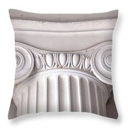 Neoclassical Ionic Architectural Details Throw Pillow