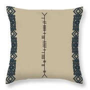 O'doherty Written In Ogham Throw Pillow