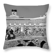 Old City Of Rhodes Throw Pillow
