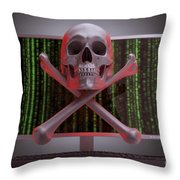 Online Security Throw Pillow