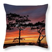 Outer Banks Sunset Throw Pillow