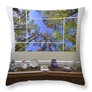 5-panel - A Forest Sky Throw Pillow