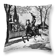 Paul Reveres Ride, 1775 Throw Pillow