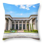 Pavilion In Kiev's National Complex  Throw Pillow