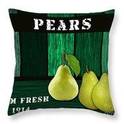 Pear Farm Throw Pillow