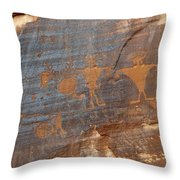 Petroglyphs  Throw Pillow