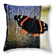 Phoenician Butterfly Throw Pillow