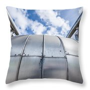 Pipes At Nesjavellir Geothermal Power Throw Pillow