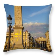 Place De La Concorde Throw Pillow
