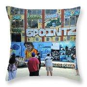 5 Pointz Graffiti Art 3 Throw Pillow