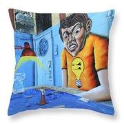 5 Pointz Graffiti Art 5 Throw Pillow
