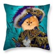 Pomeranian Art Canvas Print Throw Pillow