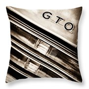 Pontiac Gto Taillight Emblem Throw Pillow