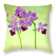 Purple Orchid-8 Throw Pillow
